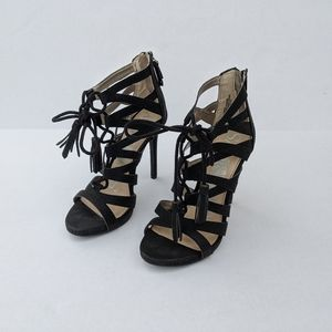 EUC Caged Lace up heels
